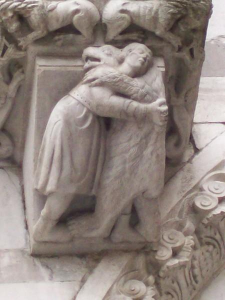 San Martino carving man bear