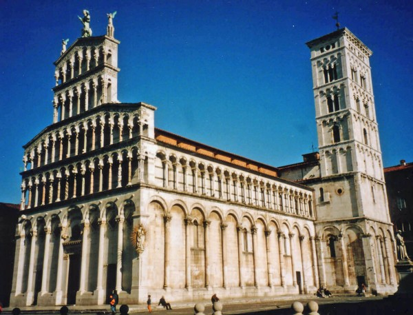 Lucca Italy church of San Michele